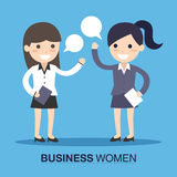 Business women speaking. Two business women speaking illustration stock illustration