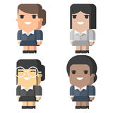 Business women square different races Royalty Free Stock Photo