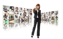 Business conferencing and global communications Stock Images