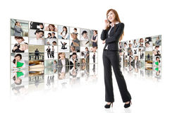 Business conferencing and global communications Royalty Free Stock Photo