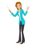 Business women/teacher. Vector illustration of a business women/teacher Stock Photo