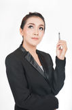 Business women thinking Stock Photography