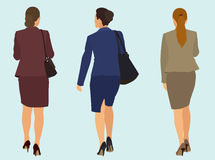 Business Women Walking Away Stock Photo