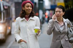 Business Women Walking Stock Photo