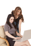 Business women working computer royalty free stock photo