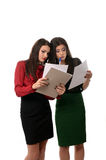Business women working together, teamwork concept Stock Images