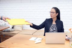 Business women in the workplace atmosphere Royalty Free Stock Photos
