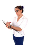 Business women writing. royalty free stock photos