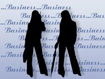 Business womens and endorsement Royalty Free Stock Image