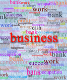 Business word with accompanying words Royalty Free Stock Image