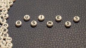 Business word on circle blocks. Stock Photos