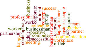 Business word cloud Royalty Free Stock Photography