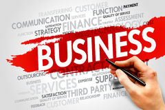 Business word cloud concept Stock Image
