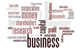 Business word cloud. Conceptual image Royalty Free Stock Photos