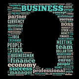 Business word cloud. Business related word cloud, head illustration Royalty Free Stock Photos