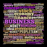 Business word cloud Stock Images