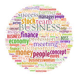 Business word cloud. Business related word cloud illustration Royalty Free Stock Images