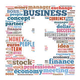 Business word cloud. Business related word cloud illustration, dollar symbol Royalty Free Stock Images