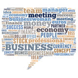 Business word cloud. Business related word cloud illustration, speech bubble Royalty Free Stock Image