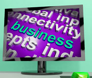 Business Word Cloud Screen Shows Commercial Trade Or Deal Royalty Free Stock Images