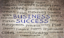 Business word cloud written Royalty Free Stock Images