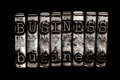 Business word concept. Business word in type concept Stock Photos