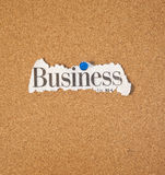 Business word on cork board Stock Photography
