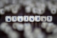BUSINESS word on cube background Stock Image