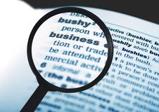 Business word in dictionary Stock Photography