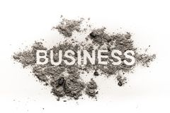 Business word in dirt as a economy or financial criminal Royalty Free Stock Photography