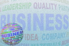 Business word globe and letter Stock Photography