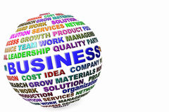 Business word globe and letter Royalty Free Stock Photo