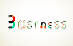 Business word keyword font Royalty Free Stock Images