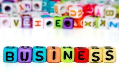 Business word from letter beads Stock Image