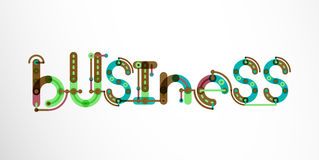 Business word lettering. Wire minimalistic thin line design Stock Photos