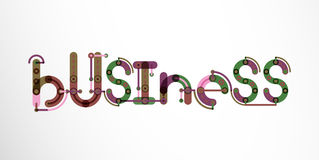 Business word lettering Royalty Free Stock Photography