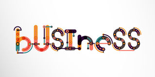 Business word lettering. Wire minimalistic thin line design Royalty Free Stock Photography