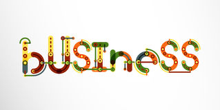 Business word lettering. Wire minimalistic thin line design Royalty Free Stock Photos