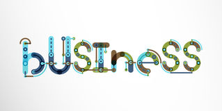 Business word lettering. Wire minimalistic thin line design Stock Photography