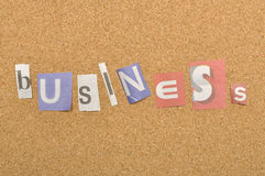 Business Word Made From Newspaper Letter Stock Photos