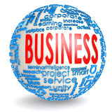 Business word on the sphere Royalty Free Stock Photography