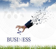 Business wording Royalty Free Stock Image
