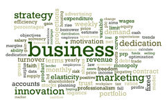 Business Words Royalty Free Stock Photography