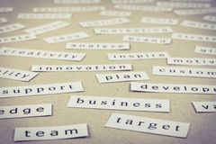 Business words Royalty Free Stock Photo