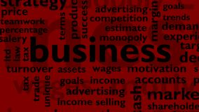 Business words stock footage