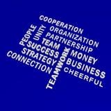 Business Words on blue backgound. 3d illustration Stock Image