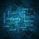 Business words on money background Stock Photos
