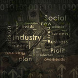 Business words on money background Royalty Free Stock Photo