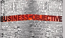 Business words related with word Objective Stock Photos