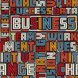 Business words seamless tile Royalty Free Stock Photography